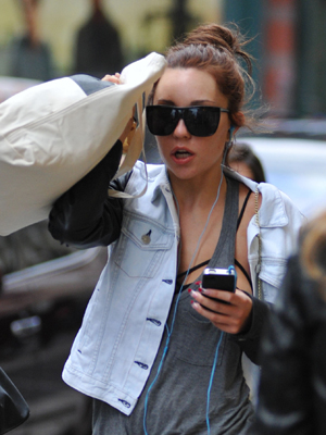 Bynes in NYC. (Splash News)
