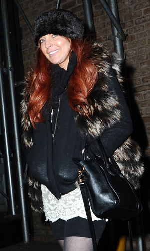 Lohan in NYC on Monday. (SplashNews)
