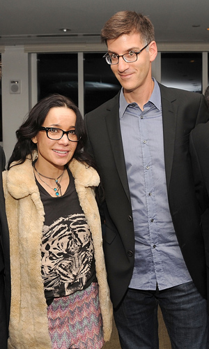 The newly divorced spouses Janeane Garofalo and Rob Cohen reunite. (Gary Gershoff/WireImage)