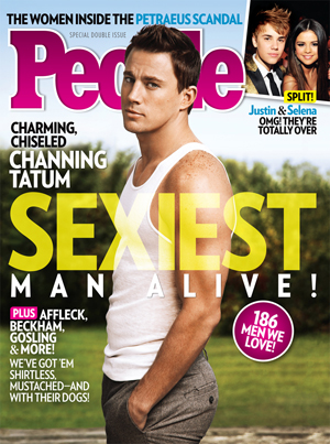 Channing Tatum on the Sexiest Man Alive issue cover. (People)