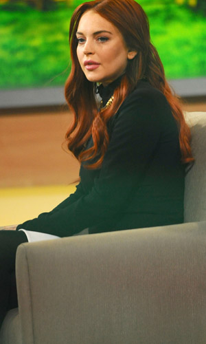 Lohan on GMA. (Splash News)