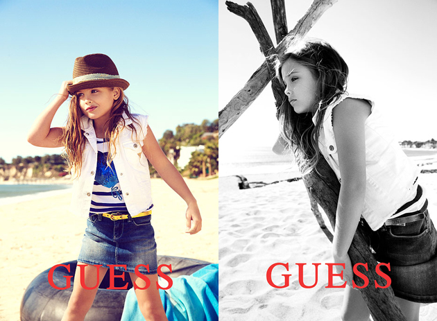 Dannielynn Birkheard models for Guess. (Courtesy of Guess)