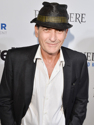 Charlie Sheen is in a giving mood. (George Pimente/WireImage)