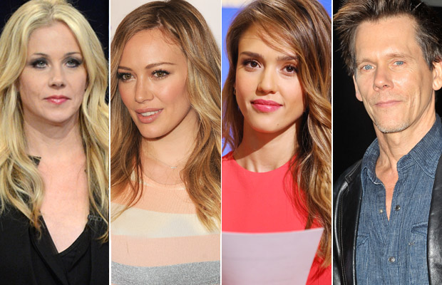 Jessica Alba, Hilary Duff, Christina Applegate, Kevin Bacon. (Film Magic/Getty Images)