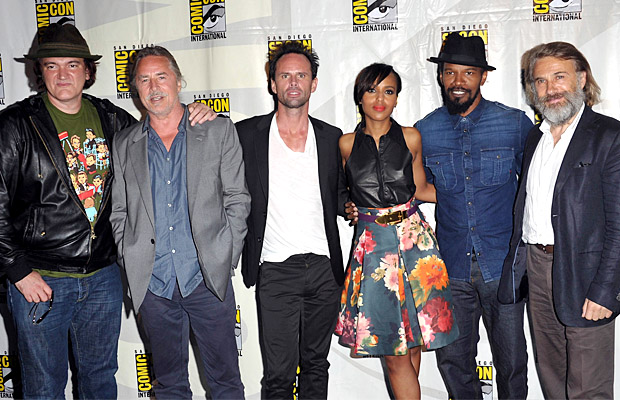 The director and cast of Django Unchained at Comic-Con 2012. (WireImage)