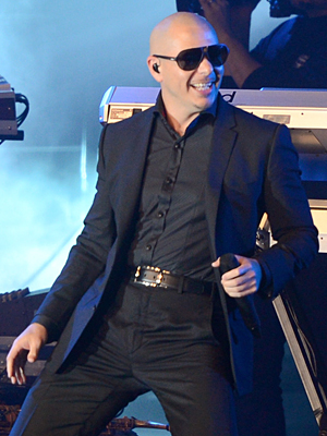 Pitbull performs in New Orleans (Stephen Lovekin/Getty Images)