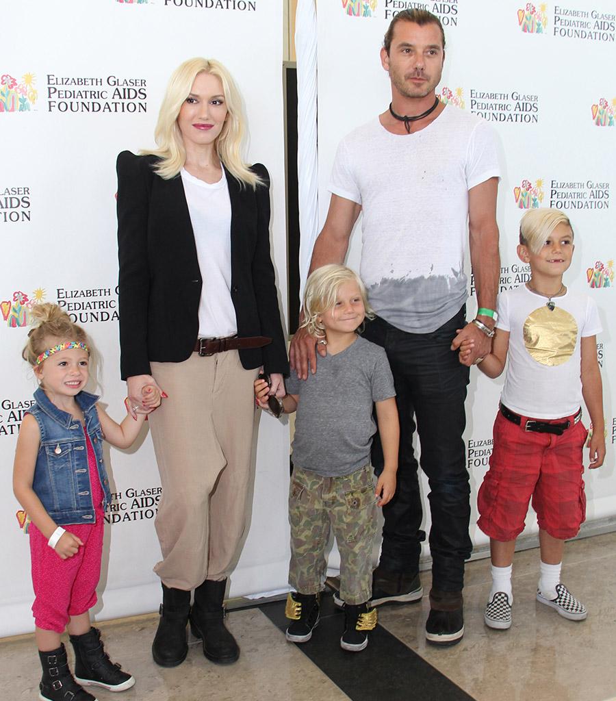 Gwen Stefani, Gavin Rossdale, niece Stella Stefani, and Zuma and Kingston Rossdale (Splash News)