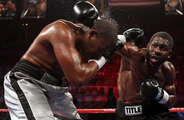 Heavyweight Bryant Jennings (R) has helped build his reputation on the NBC Sports Network (Getty)
