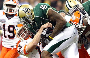 Josh Gordon in his brief time at Baylor. (US Presswire)