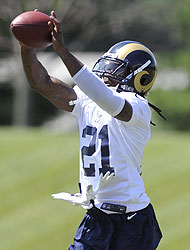 Janoris Jenkins during a Rams offseason workout (US Presswire)