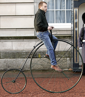 Participants in the Wenlock Olympian rode penny farthings like this one. (AP)