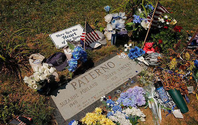 Joe Paterno is buried at the Spring Creek Presbyterian Cemetery. (AP)