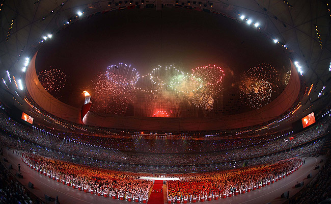 The Opening Ceremony in Beijing may never be matched. (AP)