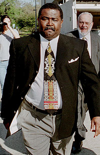 Tank Black leaving a federal courthouse in 2002. (AP)