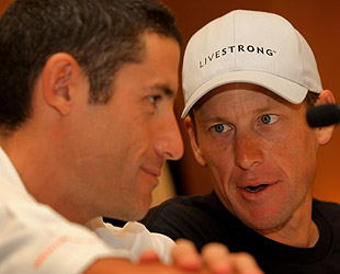 George Hincapie, left, helped pace Lance Armstrong to all seven of his Tour de France wins. (Getty Images)