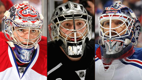Carey Price, Jonathan Quick and Henrik Lundqvist