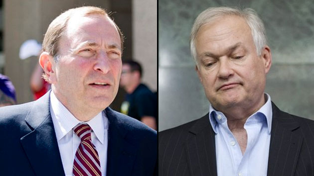 NHL commish Gary Bettman and NHLPA boss Don Fehr have barely a week to make some progress. (Getty)