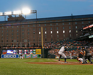 It's been a long time since Camden Yards played host to a pennant race with the home team in the hun. (Getty)