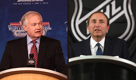 NHLPA executive director Don Fehr and NHL commissioner Gary Bettman