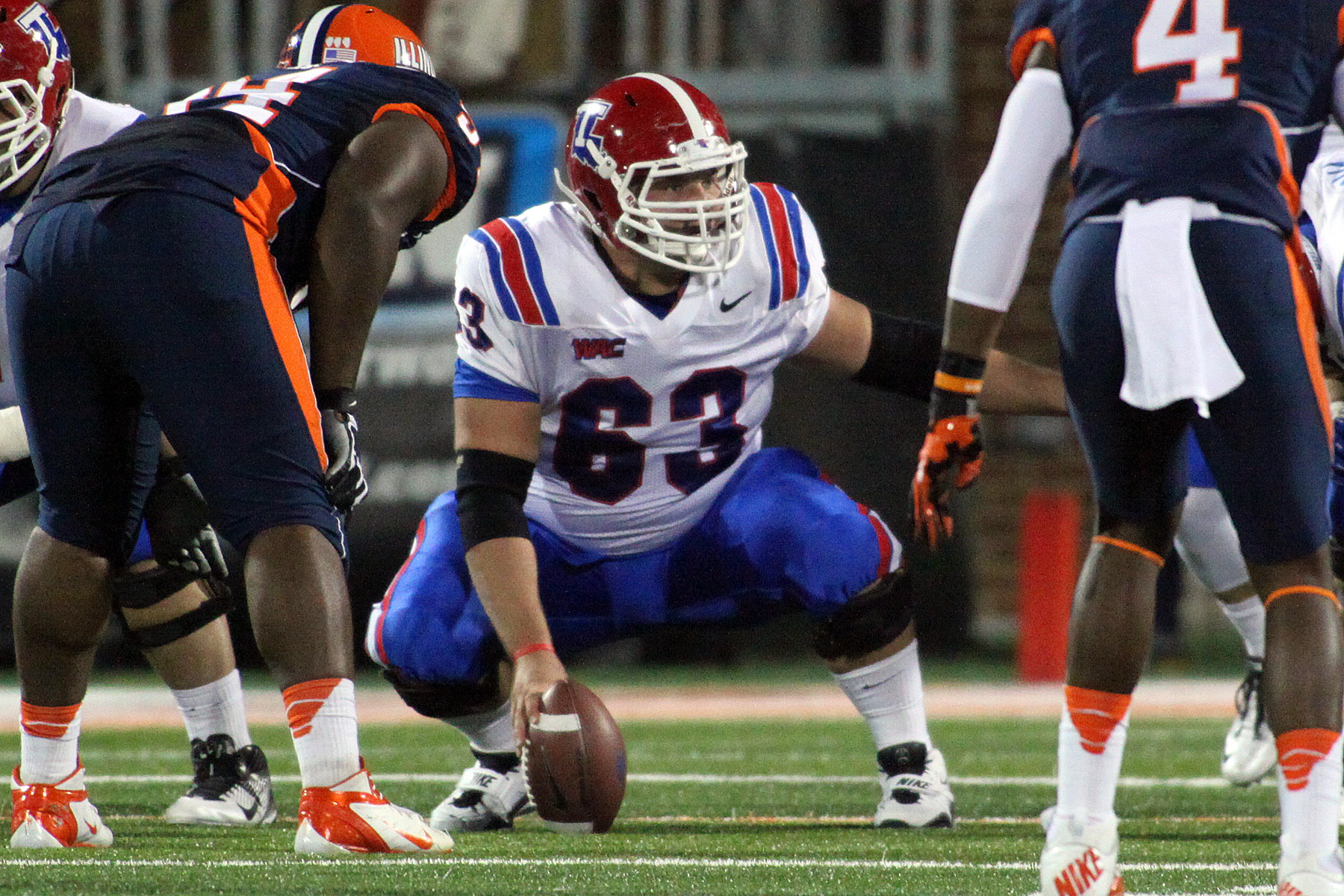 Stephen Warner directs traffic for Louisiana Tech in a win against Illinois. (Courtesy of La. Tech)