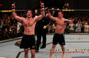 Stephan Bonnar and Forrest Griffin delivered one of the most important fights in UFC history in 2005. (Getty)