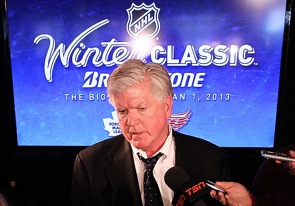 Toronto Maple Leafs GM Brian Burke talks about the 2013 Winter Classic between Toronto and the Detroit Red Wings