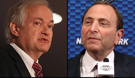 Don Fehr and Gary Bettman have a chance to find a CBA compromise and save the 2012-13 NHL season. (Getty)