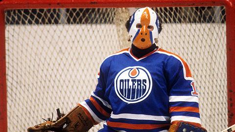 Edmonton Oilers' Grant Fuhr in 1981