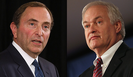 NHL commissioner Gary Bettman and NHL Players' Association boss Don Fehr