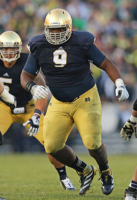 Louis Nix has helped make Notre Dame's defense one of the best in the nation. (Getty Images)