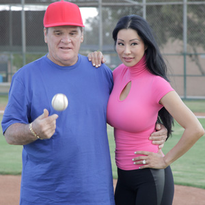 Pete Rose and his fiancee Kiana Kim will star in a reality show. (TLC)