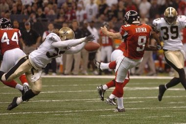 Michael DeMocker's photo of Steve Gleason's blocked punt in 2006 has a life of its own. (Times-Picayune)