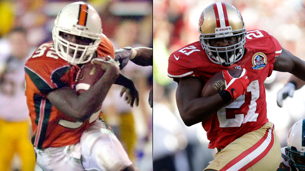 Drafted in 2005, Frank Gore has rushed for at least 1,000 in six of his eight NFL seasons. (Getty Images)
