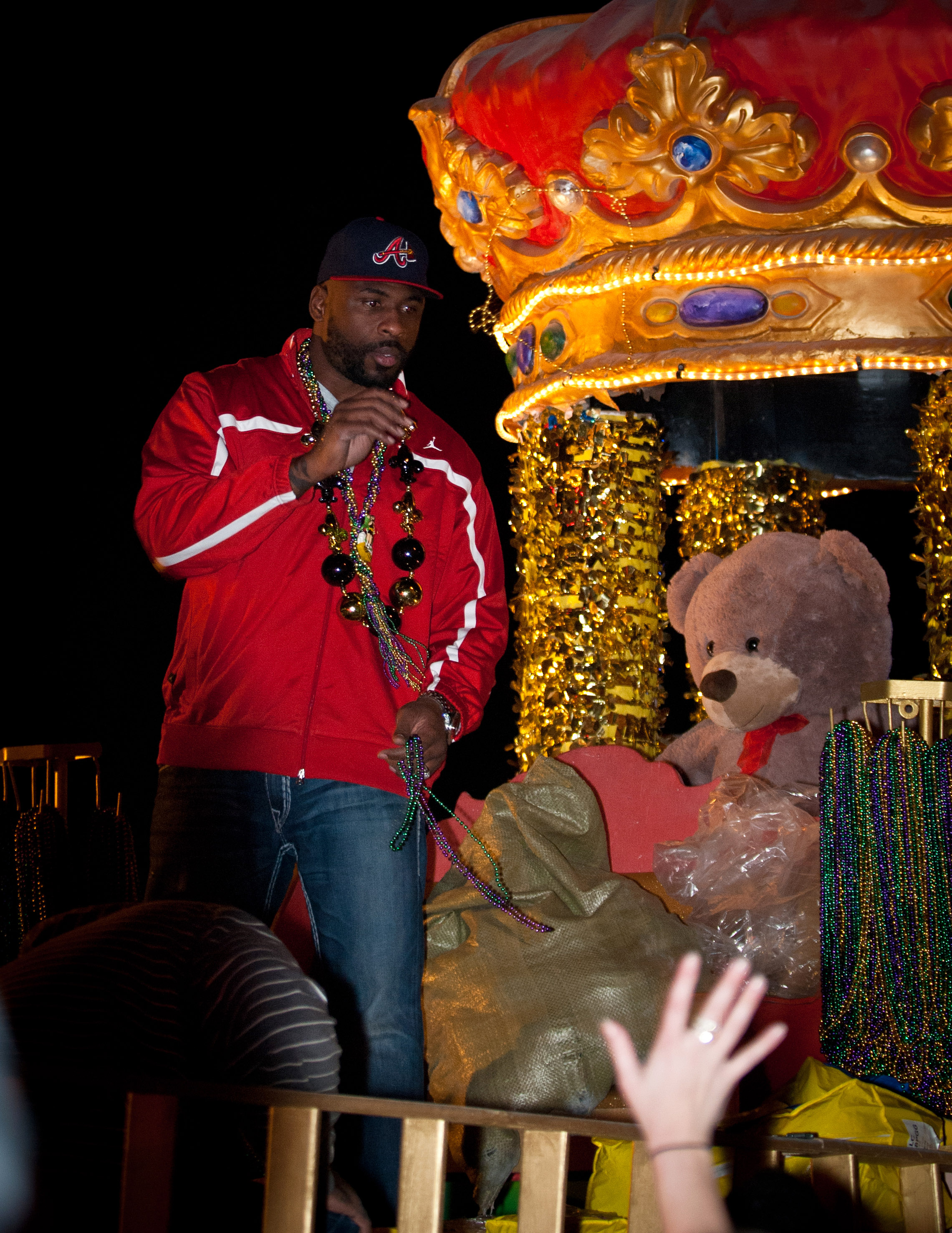 Brandon Jacobs got a hero's welcome in his hometown. (Photo courtesy of Shannon Atkinson)
