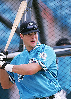 Josh Booty had 26 career at-bats with the Marlins from 1996-98. (Getty Images)