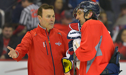 Washington Capitals coach Adam Oates and superstar Alex Ovechkin