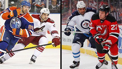 NHL's playoff bubble: Edmonton Oilers, Phoenix Coyotes, Winnipeg Jets & New Jersey Devils