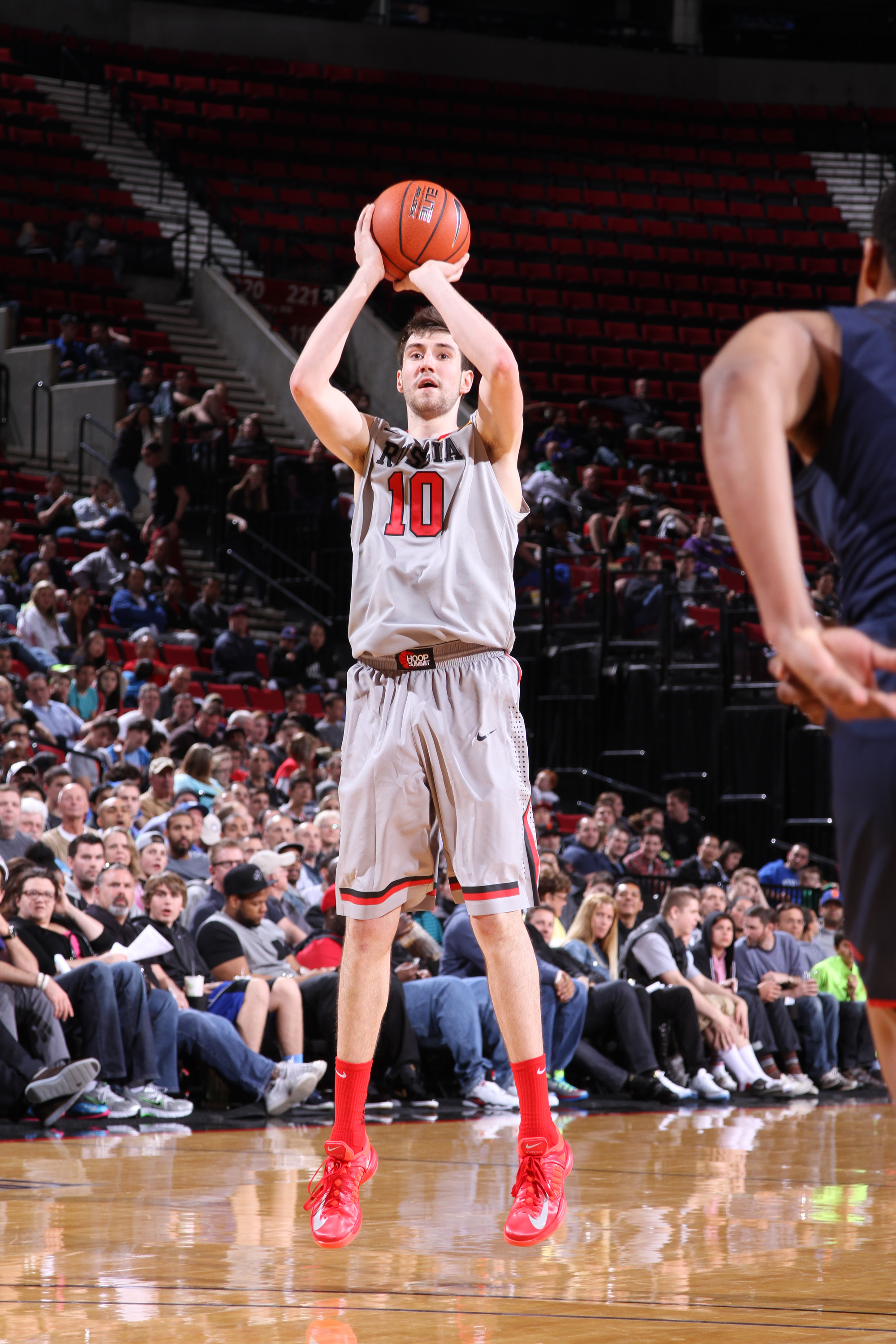 Sergey Karasev played for the world team in the Hoop Summit. (Getty Images)