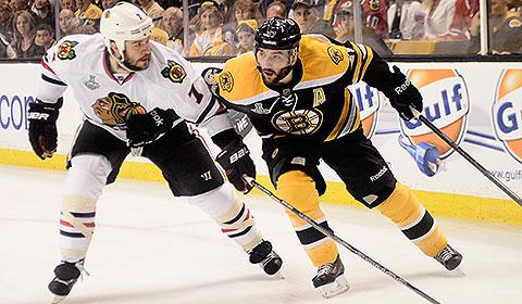 2013 Stanley Cup Final: Boston Bruins vs. Chicago Blackhawks.
