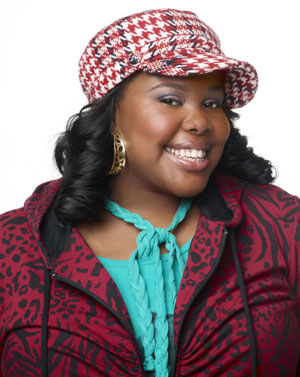 Amber Riley plays Mercedes on Glee (Patrick Ecclesine/FOX)