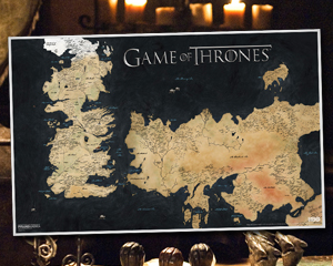 Weekly 'Game of Thrones' Giveaway: Westeros Canvas Map