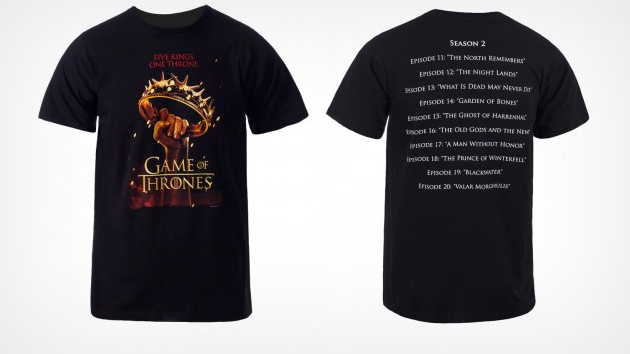 Weekly 'Game of Thrones' Giveaway: Season 2 Episode Name T-Shirt