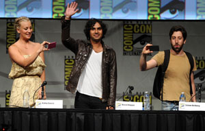 'The Big Bang Theory' at Comic-Con: The cast answers burning questions -- and sends a fan into space!