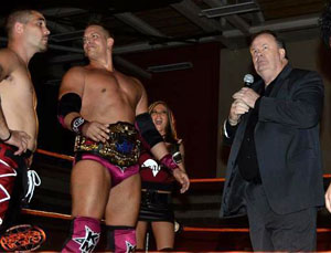 Haskins, aka Mr. Belding, in the squared circle (Pro Wresting Syndicate)
