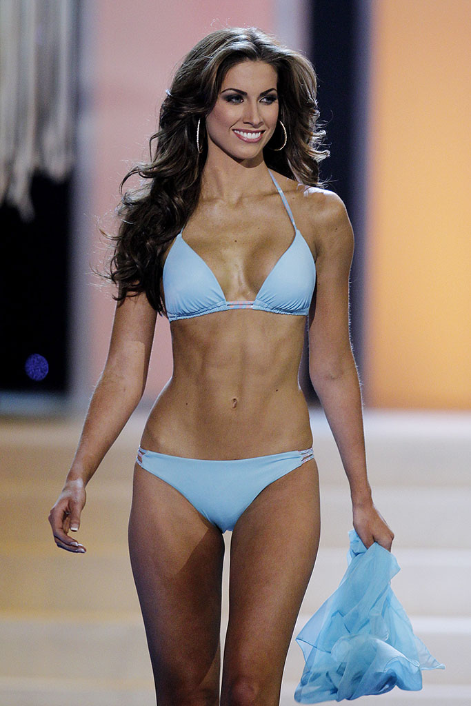 Miss Alabama Katherine Webb competes in the swimwear competition during the 2012 Miss USA pageant. (Photo by Isaac Brekken/Getty Images)