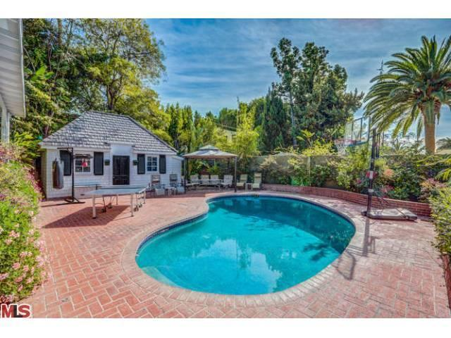 The pool and guest house