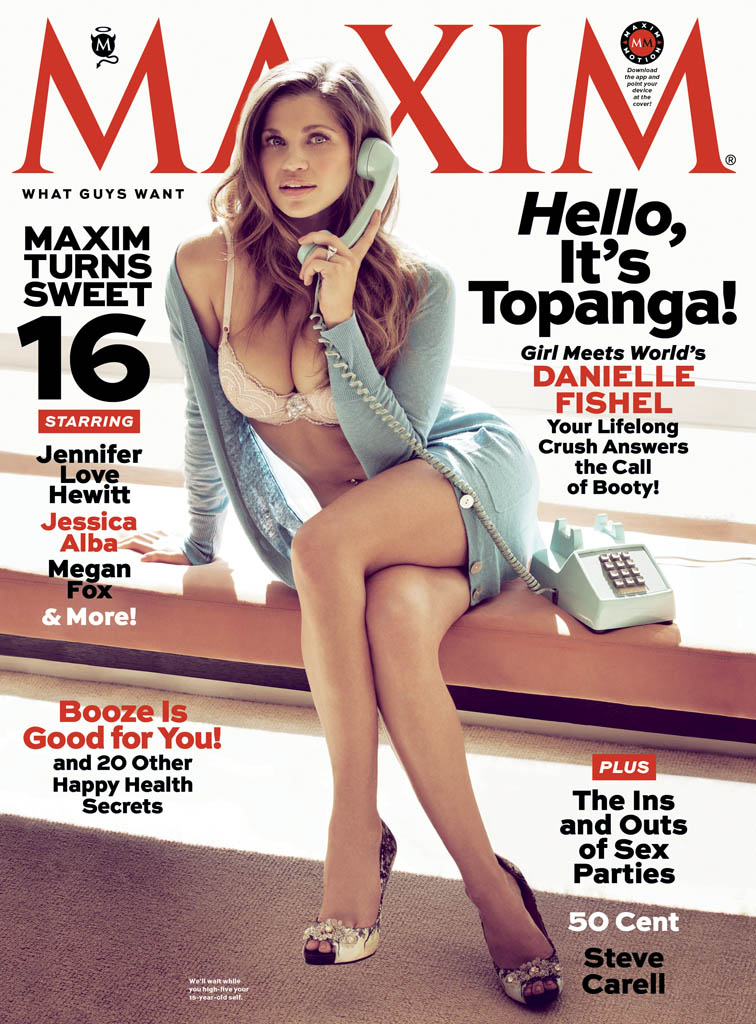 Danielle Fishel in the April issue of 'Maxim.'