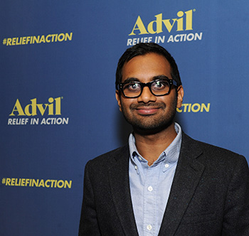 Aziz Ansari at his private show kicking off Advil's Relief in Action Campaign, which recognized Superstorm Sandy volunteers. (Getty Images)