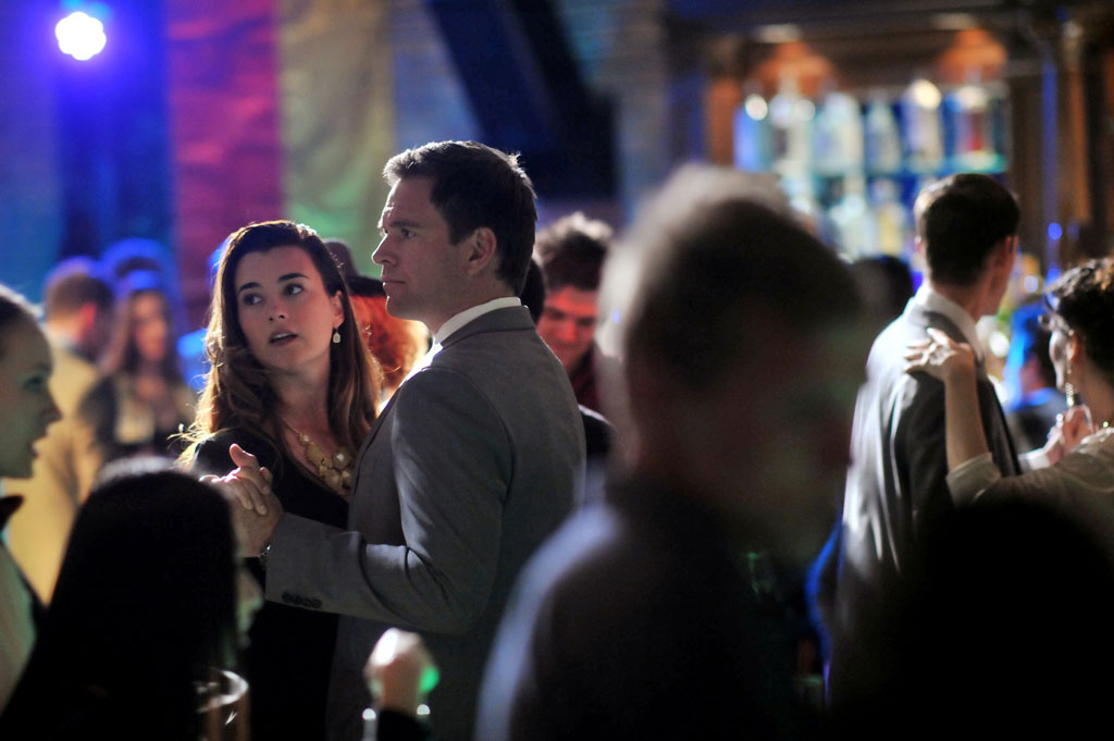"Tony (Michael Weatherly) and Ziva (Cote de Pablo) on ""NCIS."""