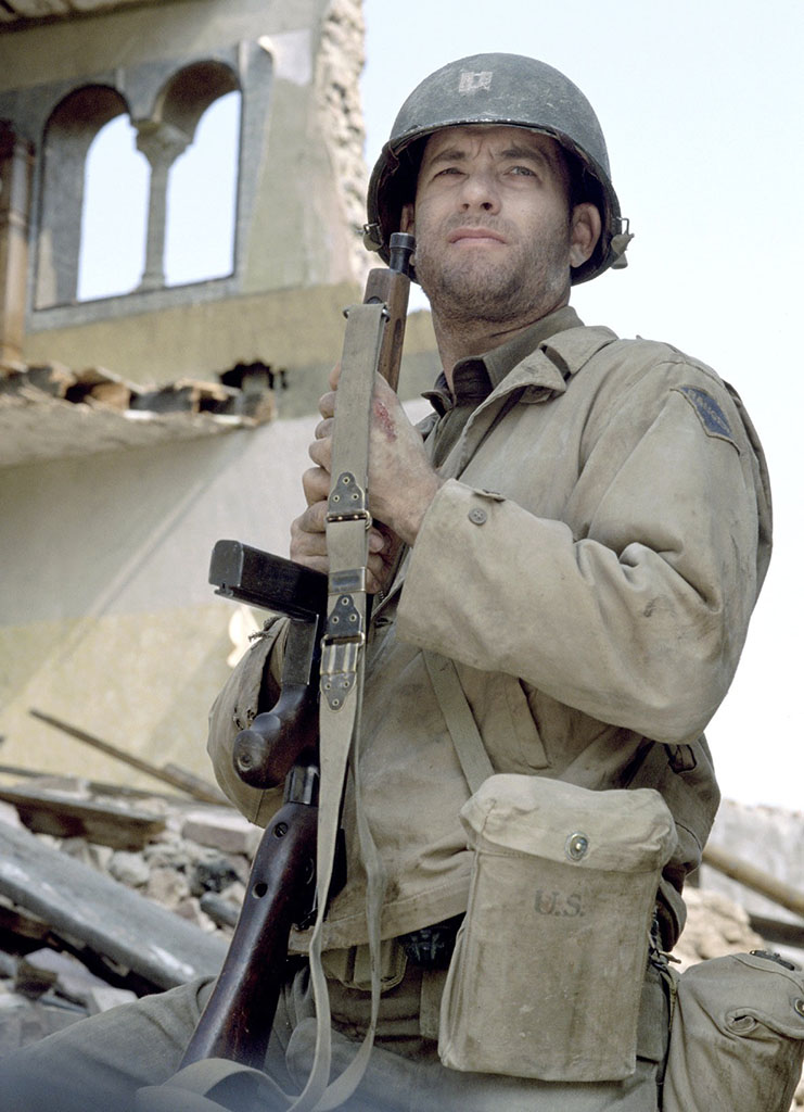 "Tom Hanks in ""Saving Private Ryan"" (1998)."